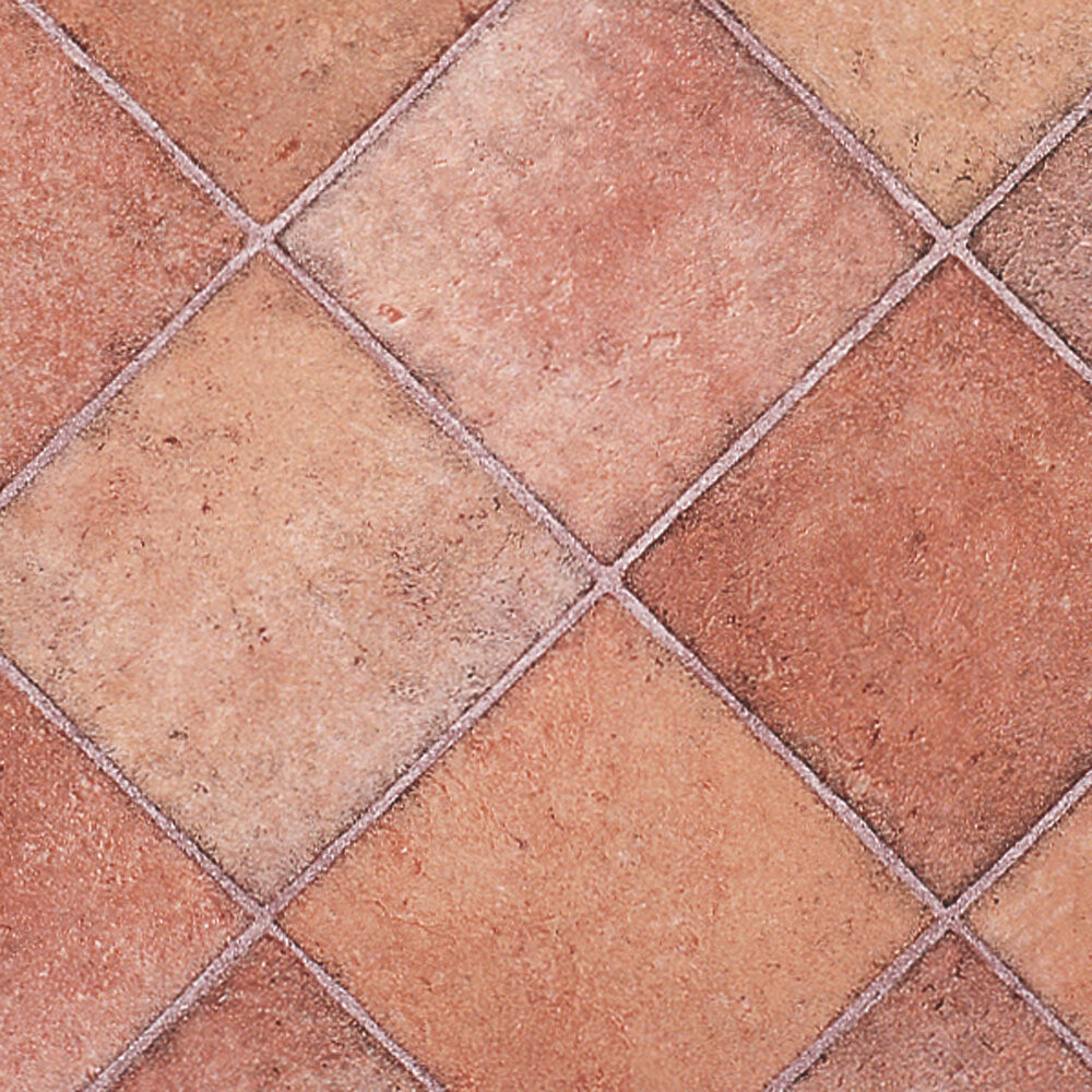 Terracotta diamond tile rhinofloor vinyl flooring slip for Floor vinyl tiles