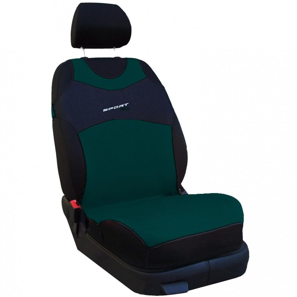 CAR FRONT SEAT COVERS PAIR SPORT LINE Green