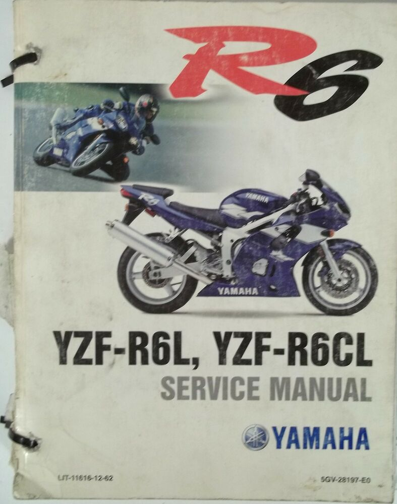 GENUINE YAMAHA R6 YZF-R6L YZF-R6CL Service Manual YZF R6L R6CL with  SUPPLEMENT | eBay