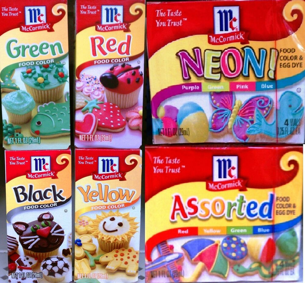 MCCORMICK FOOD COLORING COLORS NEON COLOR CAKE DECORATING FONDANT ...