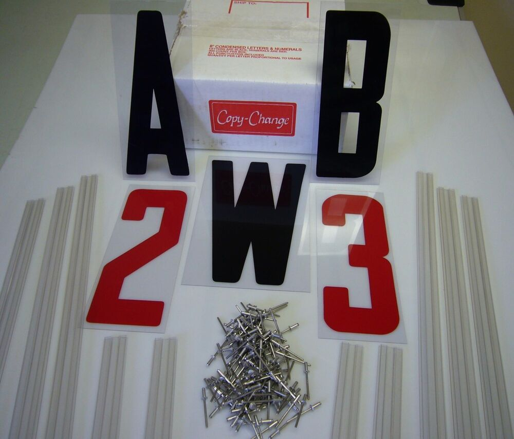 8quot marquee letter and 10 sign track kit ebay for Sign letter track kit