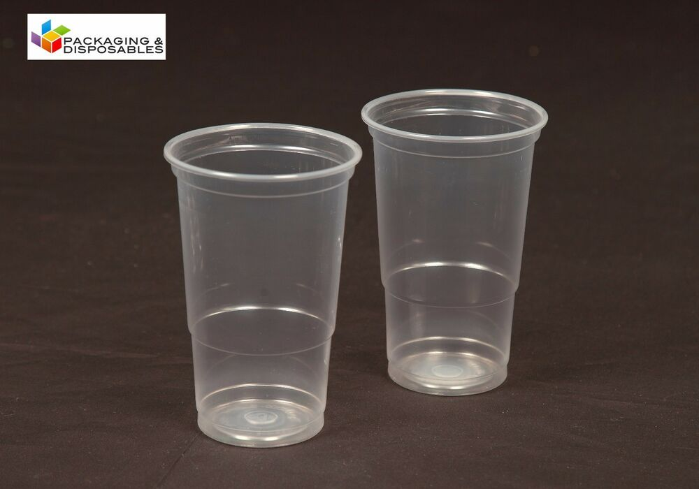 100 x clear disposable plastic pint beer glasses tumblers for How strong is acrylic glass