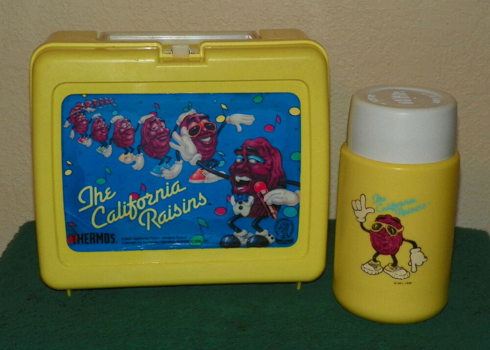 the california raisins thermos brand lunch box ebay. Black Bedroom Furniture Sets. Home Design Ideas
