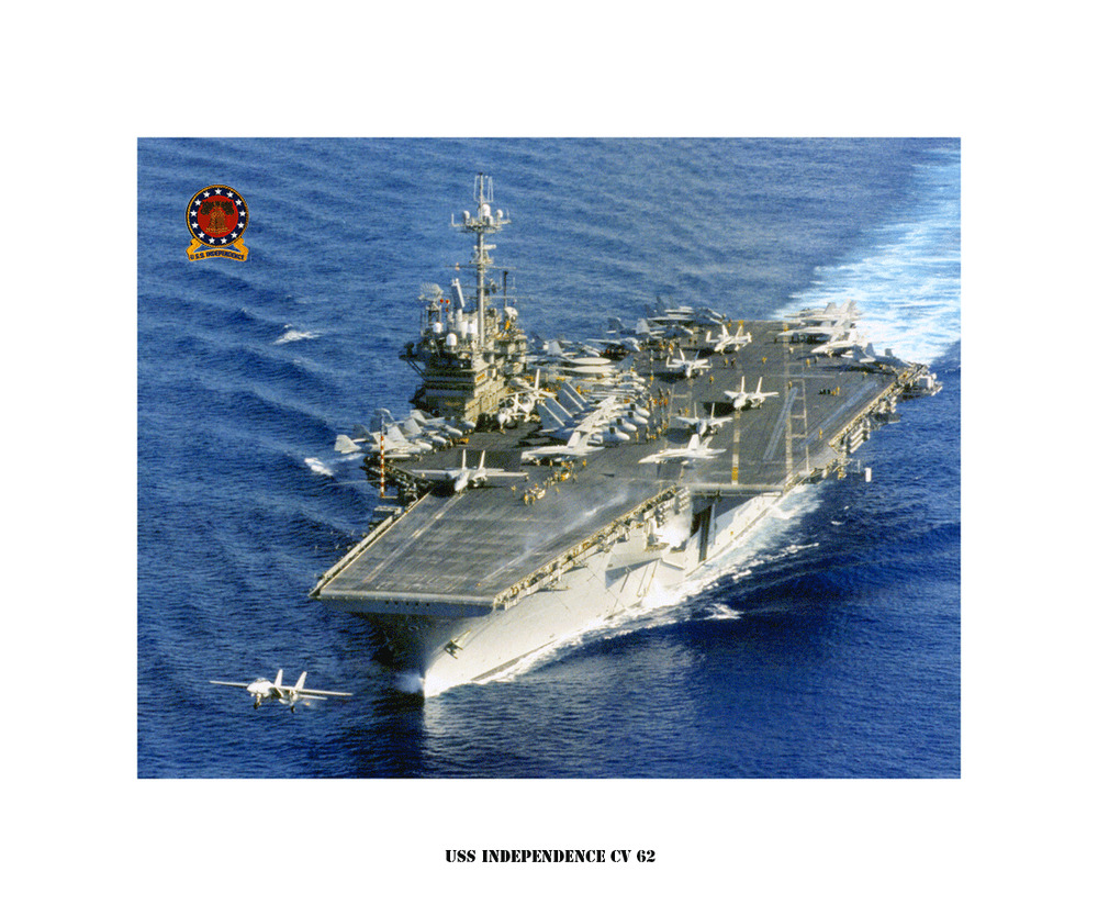 uss independence cv 62 naval ship photo print  usn navy