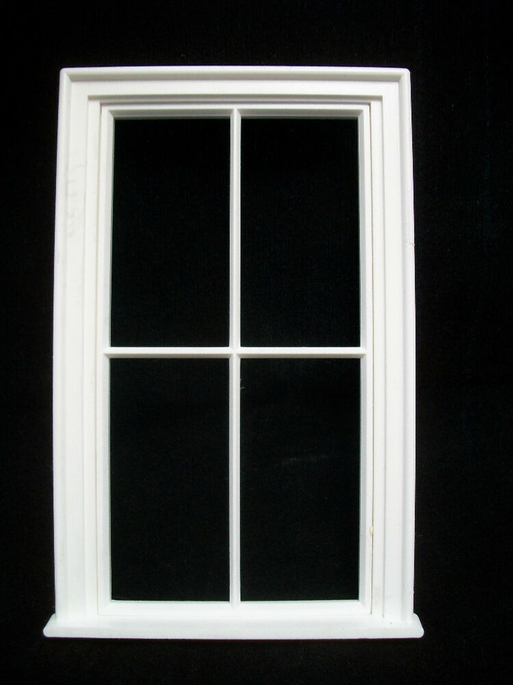 Window victorian 4 pane large window jacksons miniatures for Window plastic