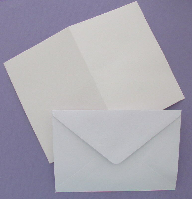 Pack Of 25 Blank White A6 Cards 250 Gsm C6 Envelopes For
