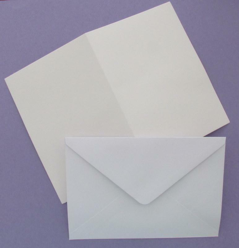 10 Blank White A6 Cards 250 Gsm C6 Envelopes For