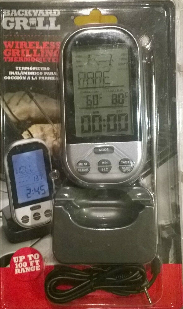 backyard grill wireless grilling thermometer 100 ft range