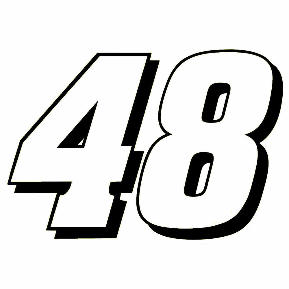 4 jimmie johnson number 48 window decals vinyl stickers for Window number