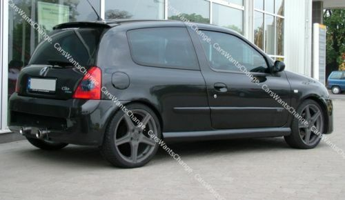 renault clio ii 2 body kit front rear bumper side skirts sport look new ebay. Black Bedroom Furniture Sets. Home Design Ideas
