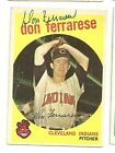DON FERRARESE 1959 TOPPS SIGNED # 247 INDIANS