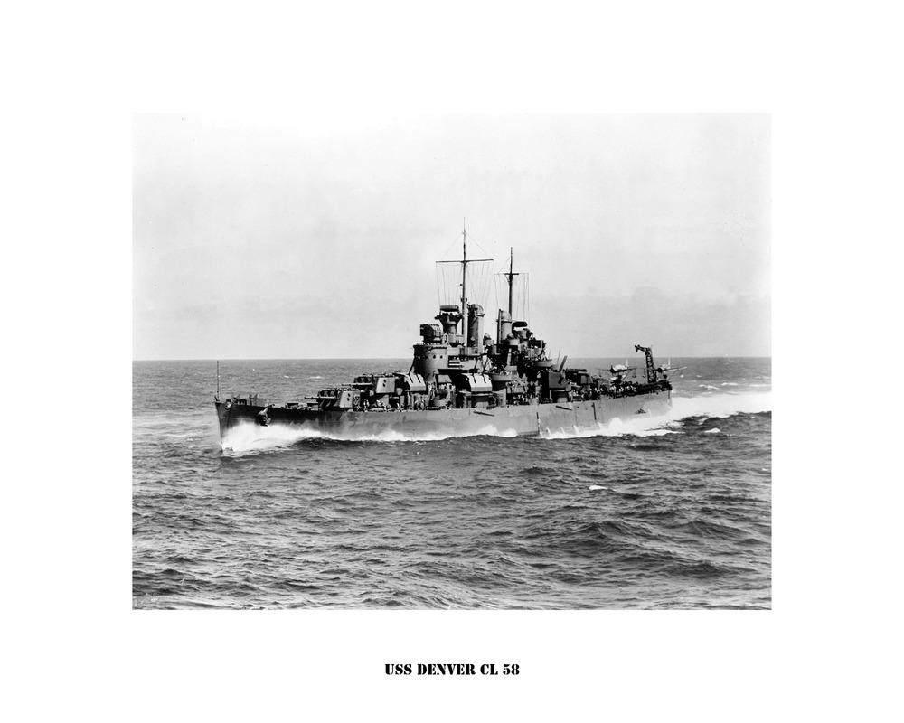 USS DENVER CL 58 Naval Ship Photo Print, USN Navy