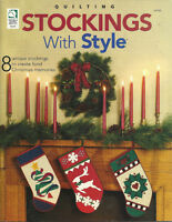 STOCKINGS WITH STYLE - 8 QUILTED CHRISTMAS DESIGNS - HOUSE OF WHITE BIRCHES