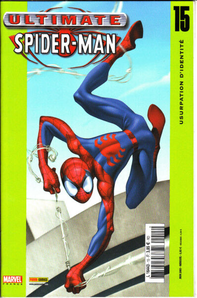 ULTIMATE SPIDERMAN   N°  15   MARVEL FRANCE   PANINI