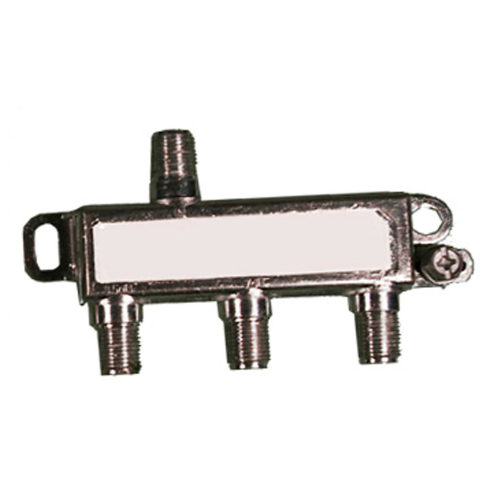 3 Way Cable Splitter : Way cable tv splitter coaxial rg coax in out hdtv