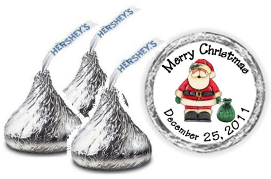 108 personalized christmas hershey kiss candy labels wrappers ebay