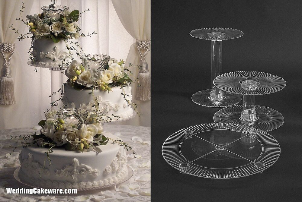 3 layer wedding cake stand 3 tier cascading wedding cake stand stands ebay 10209