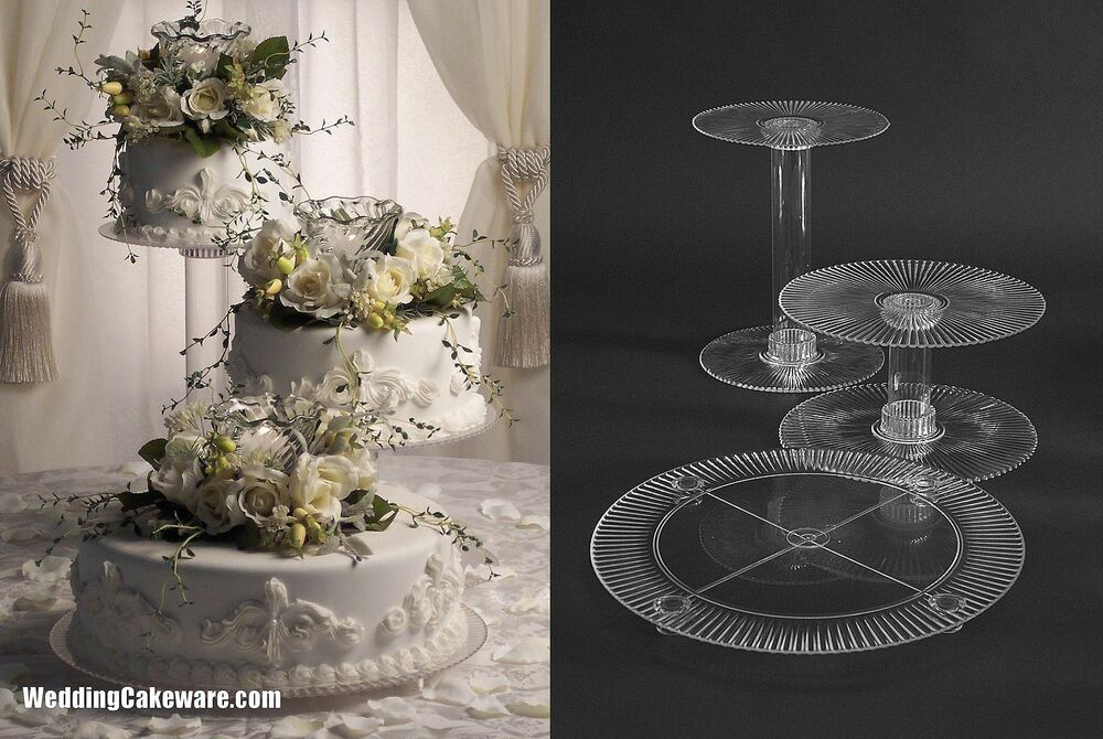 three tier wedding cake stand 3 tier cascading wedding cake stand stands ebay 7985
