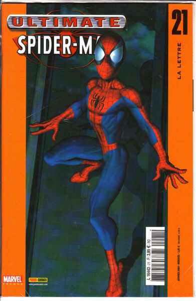 ULTIMATE SPIDERMAN   N°  21   MARVEL FRANCE   PANINI