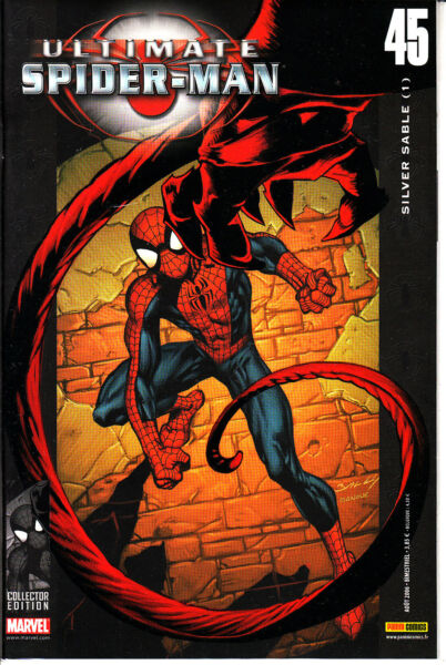 ULTIMATE SPIDERMAN   N°  45  MARVEL FRANCE   PANINI
