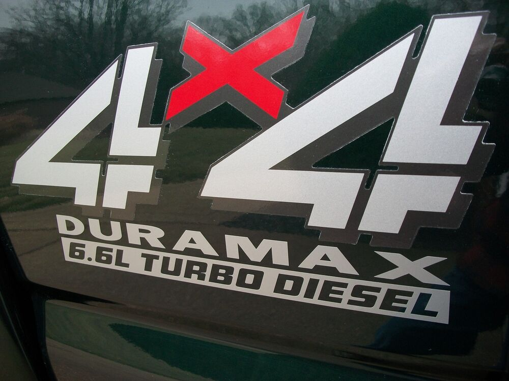 6 6l Duramax Turbo Diesel Bed Decals Stickers Chevy