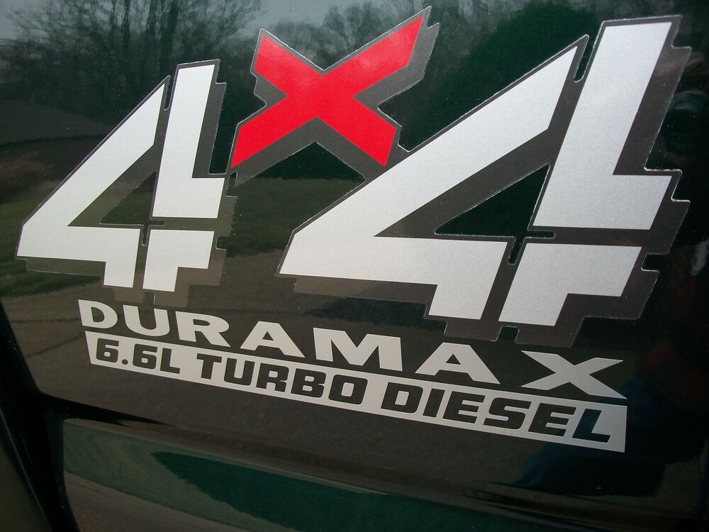 6.6L DURAMAX TURBO DIESEL Bed Decals Stickers Chevy ...