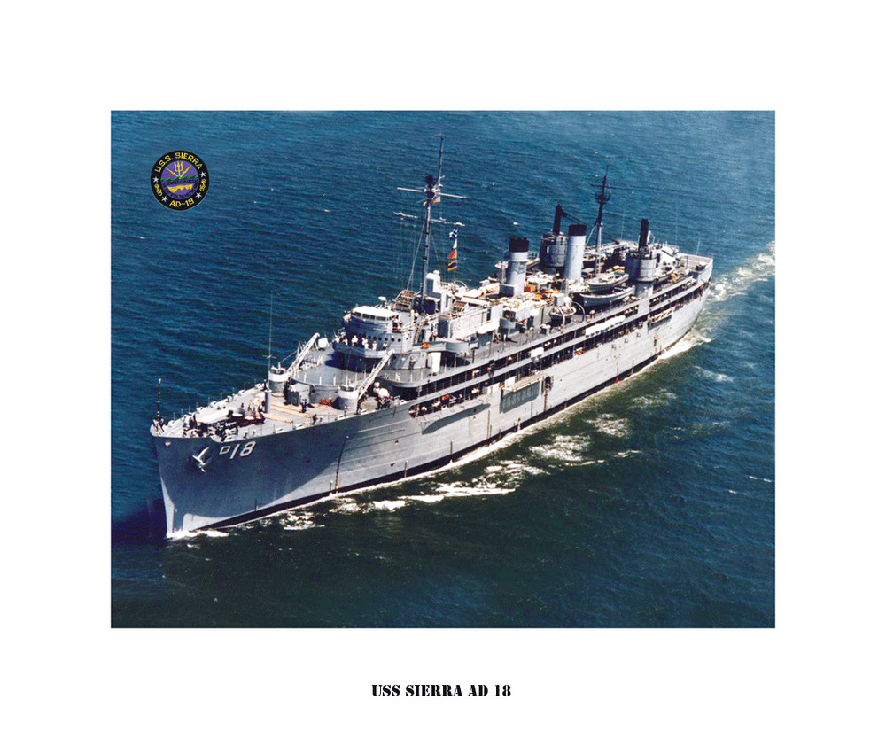 uss sierra ad 18   us naval ship  usn navy photo print
