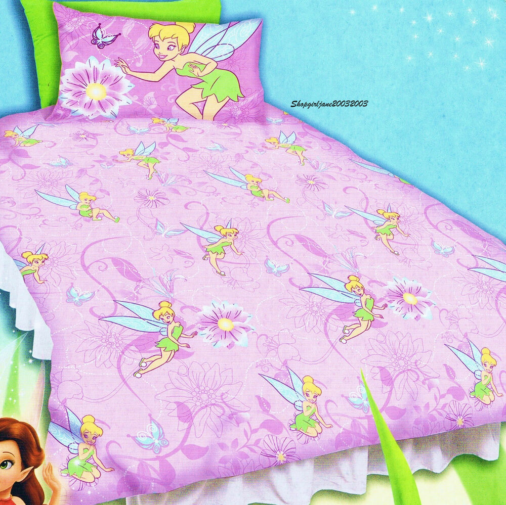 Disney Fairies Tinkerbell purple - Single/USTwin Bed Quilt ...