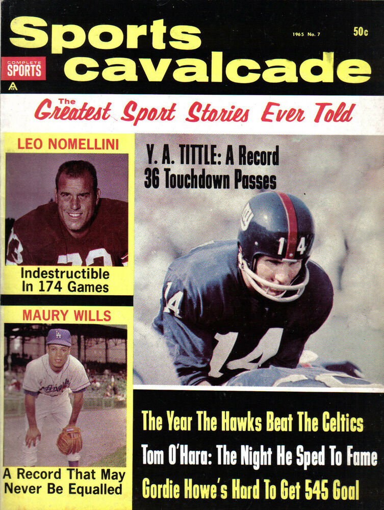 Vintage sports illustrated cover ny giants