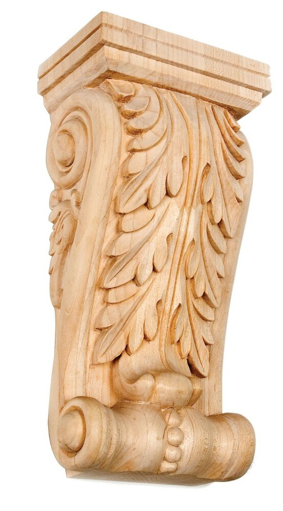 Iww acanthus leaf corbel hand carved quot solid