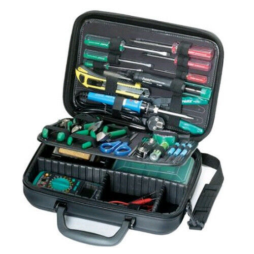 new electronic basic tool kit w case electrician service repair ebay. Black Bedroom Furniture Sets. Home Design Ideas