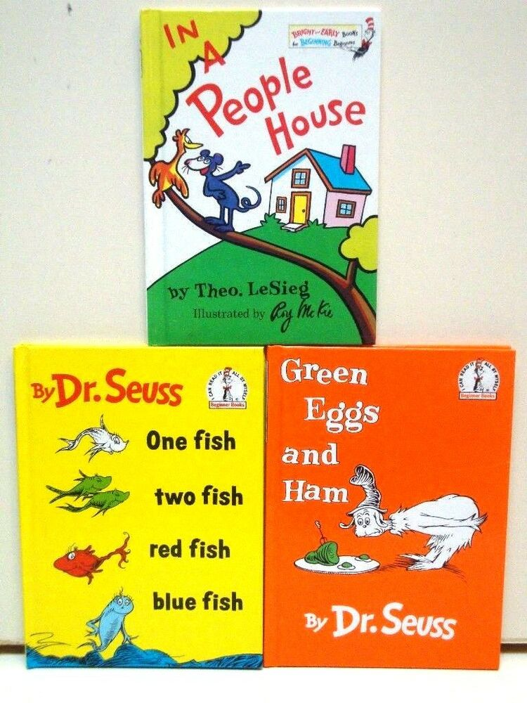 Lot of 11 Dr. Seuss Books Beginners Book Series Collection.