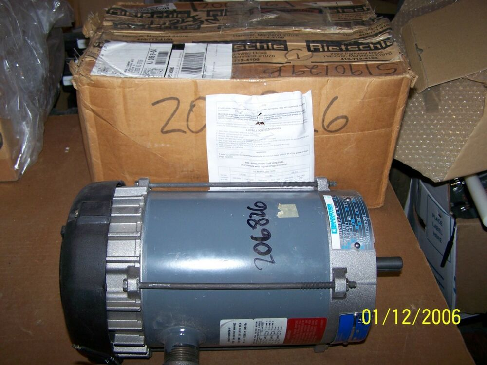 New marathon electric motor 80h 56t1765315bp 1 2 hp 3p 208 for Half horsepower electric motor