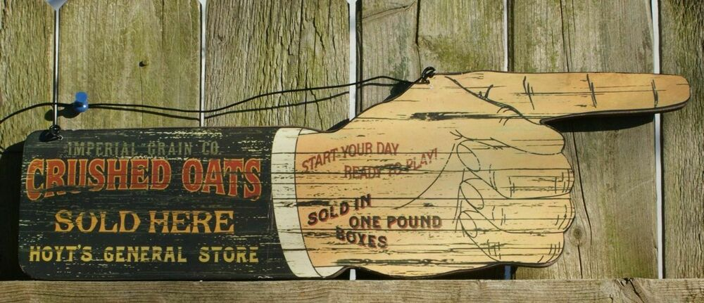 Oats general store wood sign country kitchen farm vintage style ebay