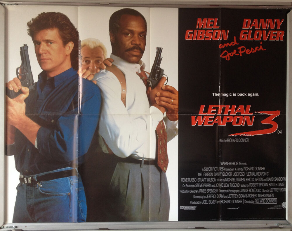 cinema poster lethal weapon 3 1992 quad mel gibson