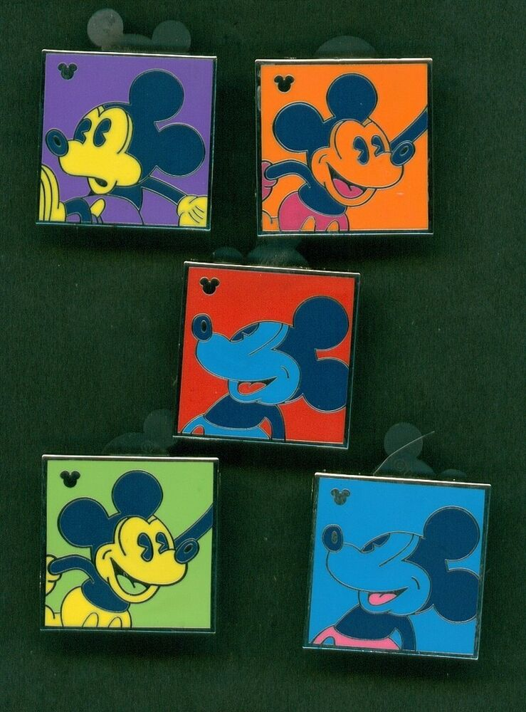 Pin By Jonika Tarot On Totally Tarot Group Board: DISNEY PINS HM ANDY WARHOL INSPIRED COMPLETE 5 PIN SET