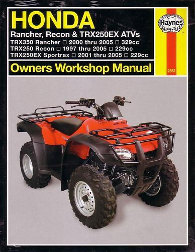 haynes repair manual honda rancher recon trx250  350 atv ebay workshop manual honda c90 workshop manual honda innova