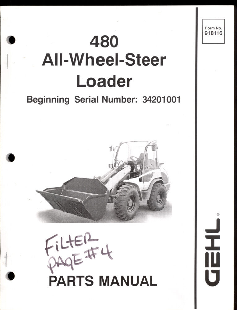 2004 Gehl Parts Manual 480 All