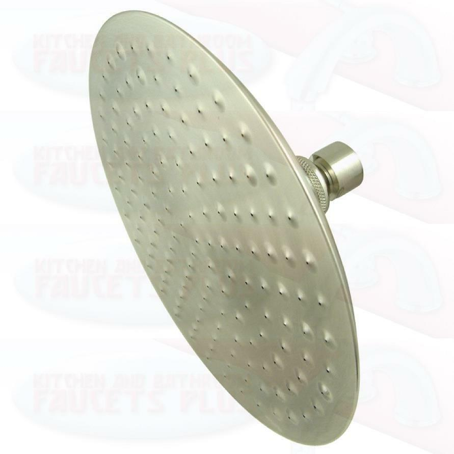 Brushed satin nickel 7 3 4 large diameter raindrop shower for Childrens shower head