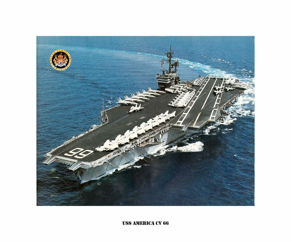 uss america cv 66 naval ship photo print usn navy ebay