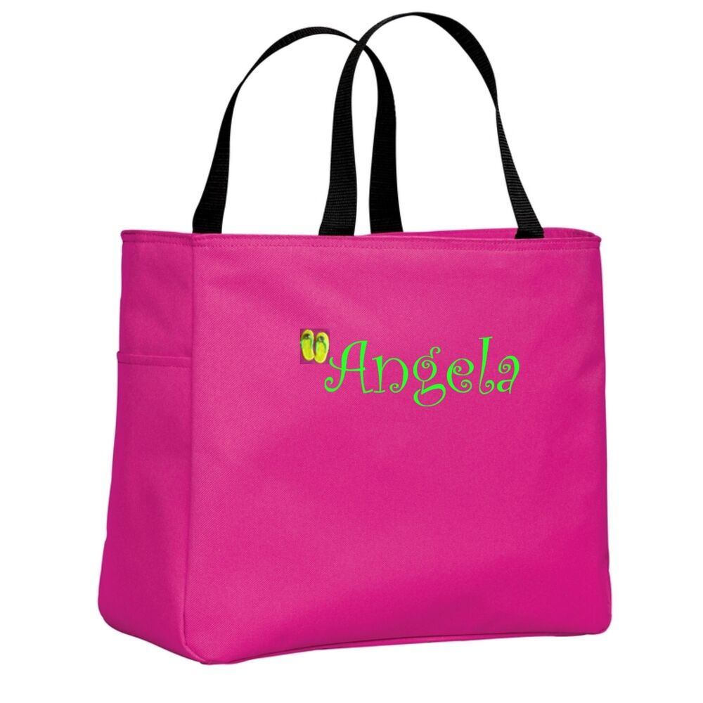 Cute Cheap Monogrammed Personalized Beach Bags And Totes