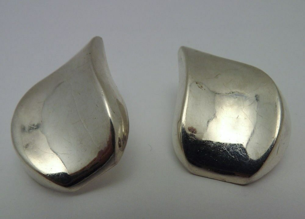 Vintage  Sterling Silver Tear Drop Earrings Ebay