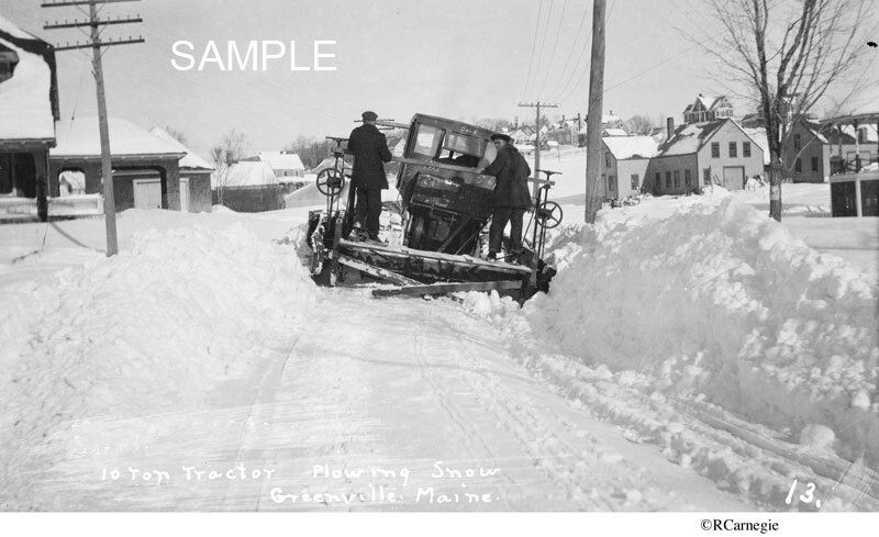 1930 S Snow Plowing 10 Ton Tractor Greenville Maine Plow