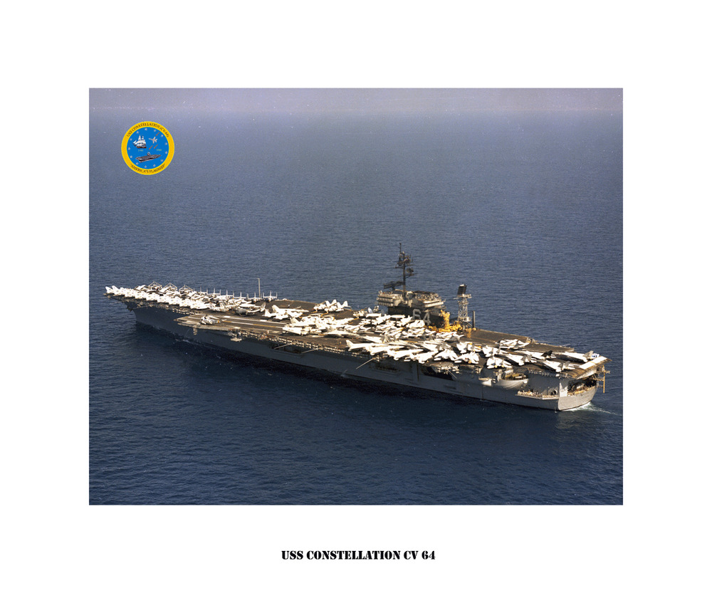 uss constellation cv 64 ca 1981 naval ship photo print  usn navy