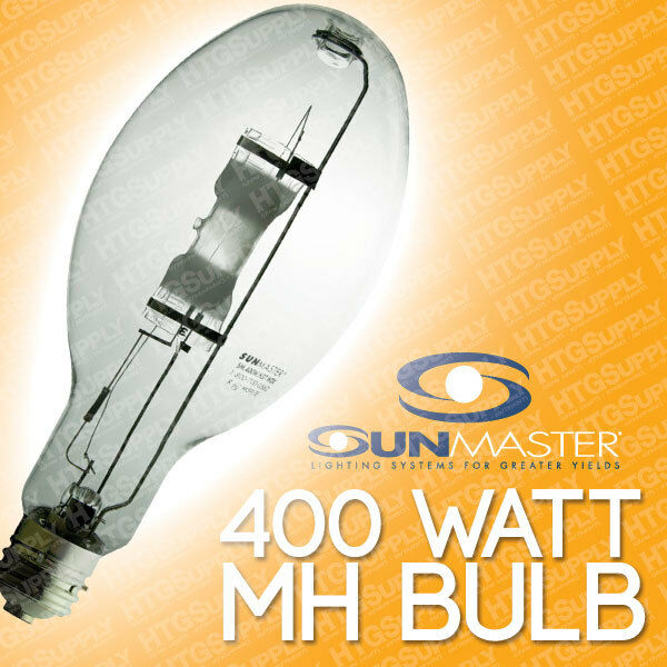 Heat Generated By Metal Halide Lamp: SUNMASTER 400 Watt MH COOL DELUXE Bulb Metal Halide 400w W