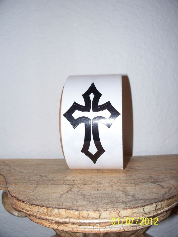Cross tattoo tanning sticker body stickers temporary for Tanning beds and tattoos