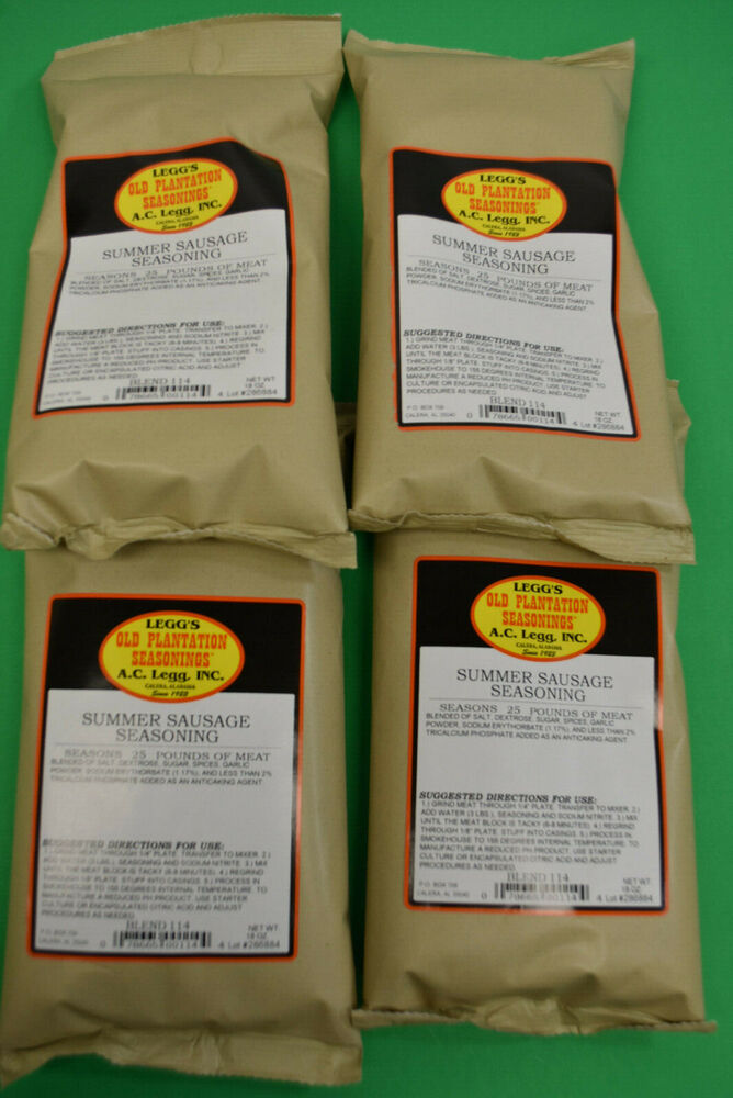 Summer Sausage Seasoning by Leggs Old Plantation for 100 ...