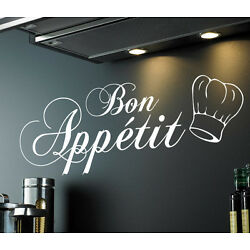 Bon Appetit   Kitchen Dining Room Wall Sticker Quote Decal Vinyl Words