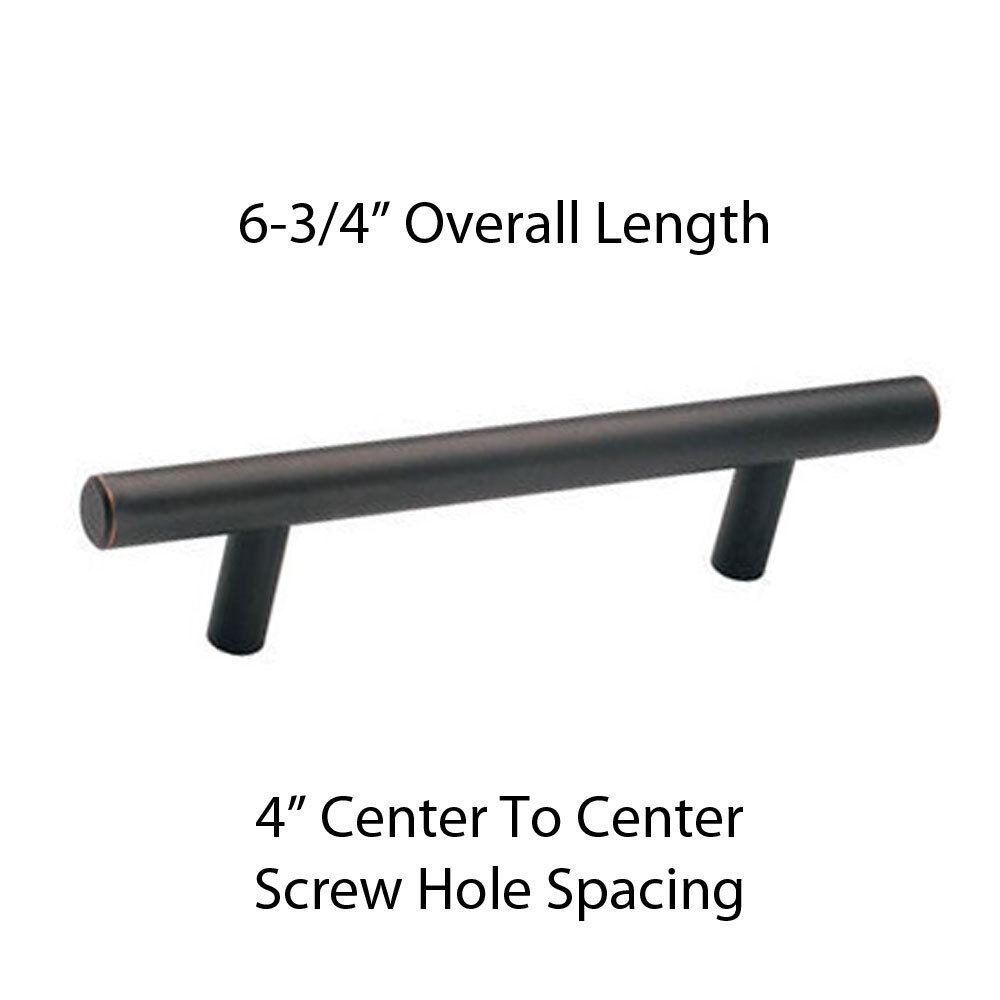 """Oil Rubbed Bronze Kitchen Cabinet Pulls: Aged Oil Rubbed Bronze 6-3/4"""" Cabinet Hardware European"""