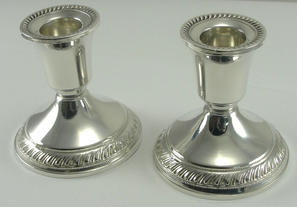 Sterling Silver Candlesticks Duchin Creation Weighted Pair